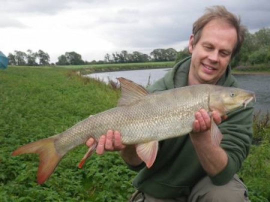 Graham Drewery with a lovely River Trent Barbel