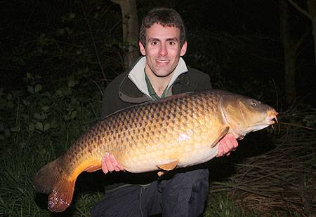 A cracking 24lb common from a short evening session