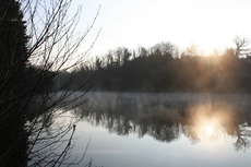 Etang Meunier, near Limoges, on a cold, clear, spring morning