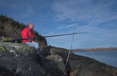 Scottish angler, Gordon Lyall enjoys the solitude of a remote Scottish Sea Loch
