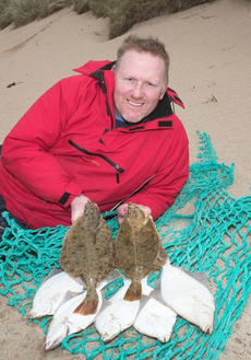 Stirling based George Bell with a good catch of Flounder from Sandside beach Caithness