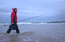 Beach fishing in Scotlands extreme north.