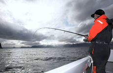 Top Angler Stuart Cresswell boat fishing in the west Fjords of Iceland