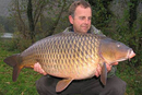 Mike Willmott with a cracking common.