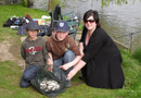 Some very happy anglers at the weigh in.