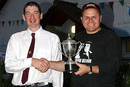 Steve Souter collecting his trophy.